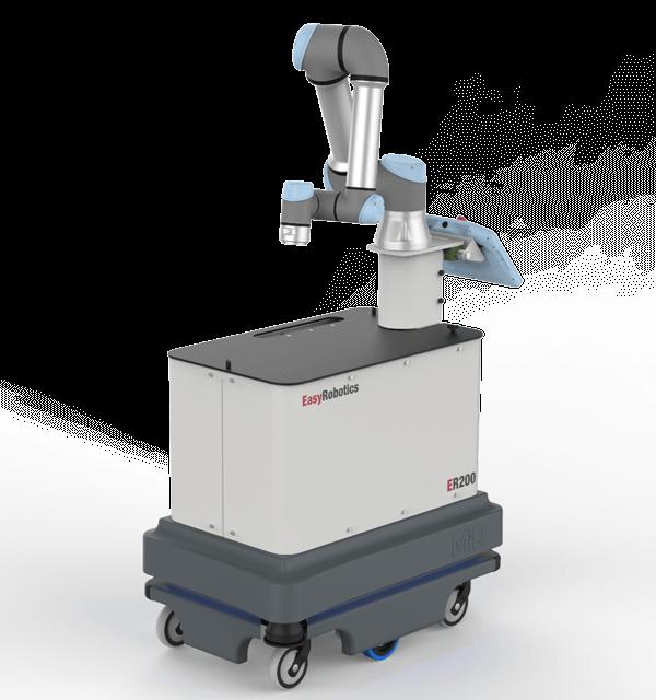 EASYROBOTICS ER200 - compact mobiel werkstation voor gedeeltelijk geautomatiseerde en relatief kleine productieomgevingen